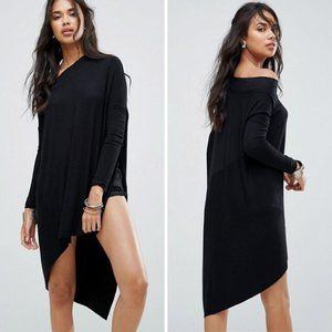 Free People Grapevine Tunic Top Black
